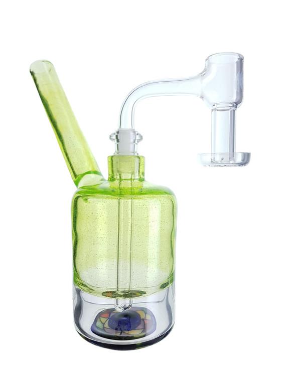 POP D GLASS ART - Trippy Sippy Cup Rig w/ 10mm Female Joint & Terp Slurper Banger - Slyrm