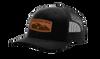 Heritage Pride Laser Engraved Leather Patch Mountain Range Mesh Back Trucker Hat