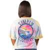 Simply Southern Youth Girl's Save Our Oceans Keep The Sea Plastic Free Short Sleeve T-shirt, Skittles Tiedye