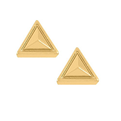 Whispers Stud Earring Collection Gold Triangle Earrings