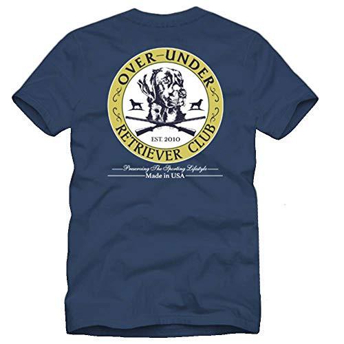 Over Under Youth Retriever Club Short Sleeve Tee Shirt Navy Blue yl