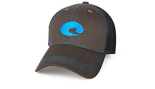 Costa Del Mar Neon Trucker Graphite Twill Hat