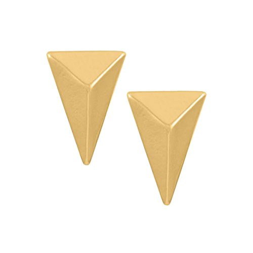 Whispers Stud Earring Collection Gold Obtuse Triangle Post Earrings