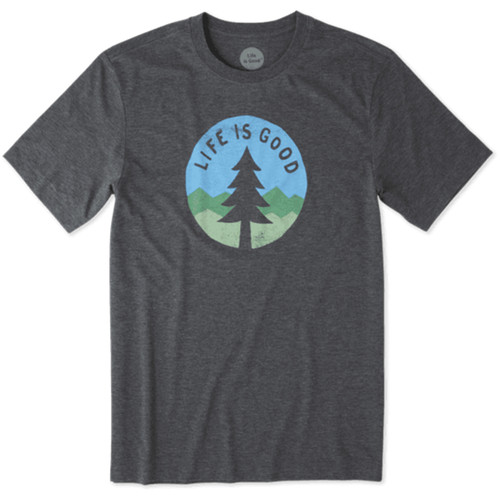 Life Is Good® Mens Simple Pine Cool Short Sleeve T-shirt