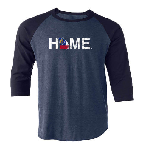 My State Threads Unisex Georgia Home Flag Quarter Sleeve Shirt