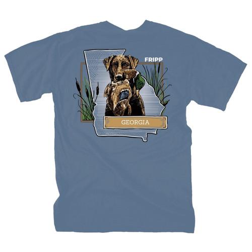 Fripp Outdoors Dog and Duck Georgia Short Sleeve T-shirt