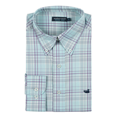Southern Marsh Louisville Performance Windowpane Long Sleeve Dress Shirt