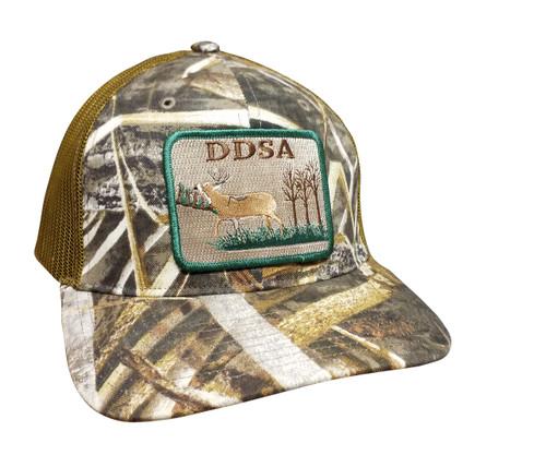 Droppin Drake Buck Patch Trucker Mesh Snapback Hat - RealTree Max-5, Camo Mesh
