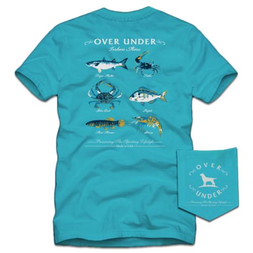Over Under Clothing Inshore Menu Short Sleeve Pocket T-shirt