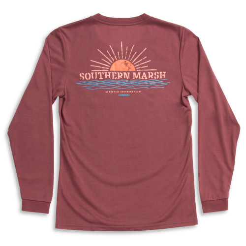 Southern Marsh Sunset FieldTec Comfort Long Sleeve T-Shirt