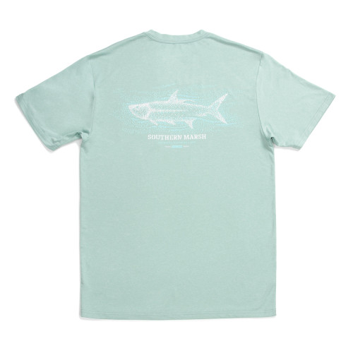 Southern Marsh Tarpon Heather FieldTec Performance Short Sleeve T-Shirt