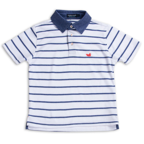 Southern Marsh YOUTH Marina Bay Stripe Polo