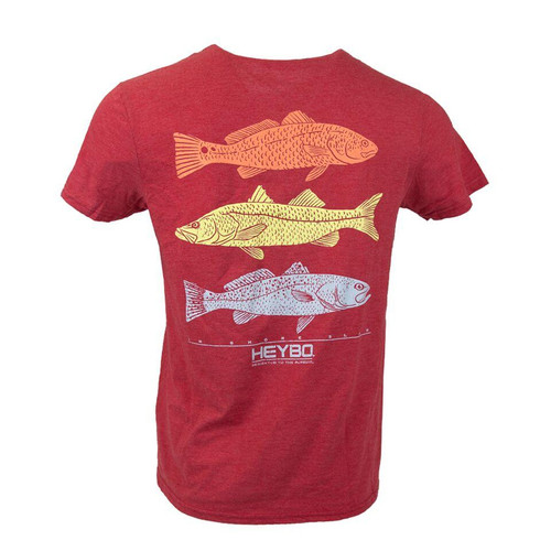 Heybo Outdoors Inshore Fish Stamp Short Sleeve T-shirt