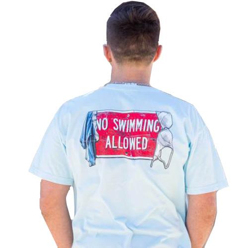 Old South Apparel No Swimming Comfort Color Short Sleeve Pocket T-shirt