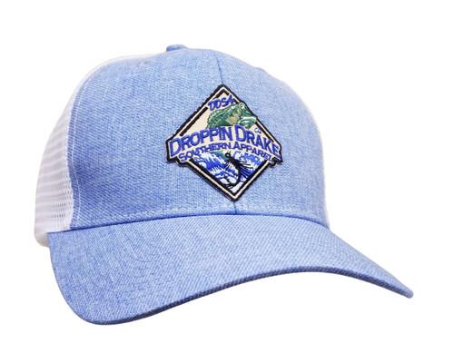 Droppin Drake Bass Patch Logo Trucker Mesh Snapback Hat