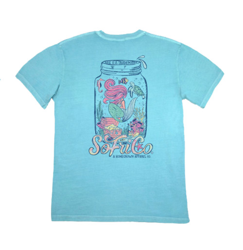 Southern Fried Cotton Mermaid for the Sea Short Sleeve Tee