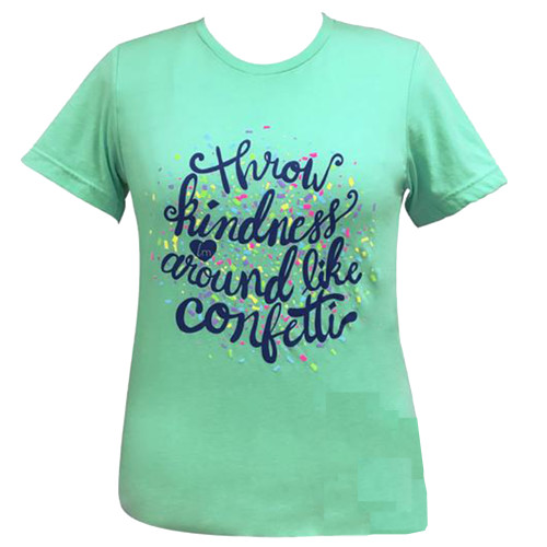 Girlie Girl Originals Lulu Mac Collection Kindness Confetti Short Sleeve T-Shirt