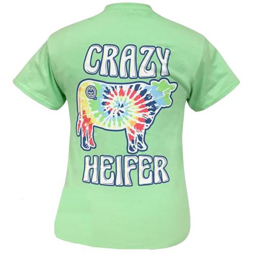 Girlie Girl Originals Tie Dye Crazy Heifer Short Sleeve T-Shirt