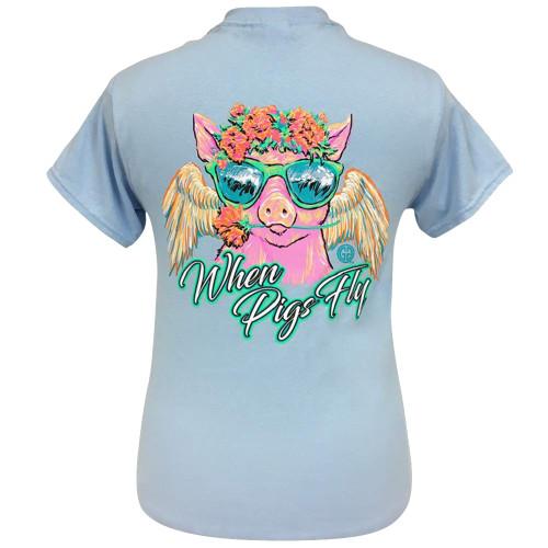 Girlie Girl Originals When Pigs Fly Short Sleeve T-Shirt