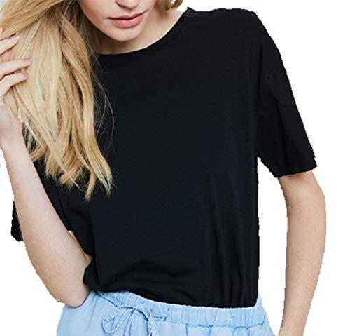 Wishlist Distressed Hem Basic Tee Shirt Black