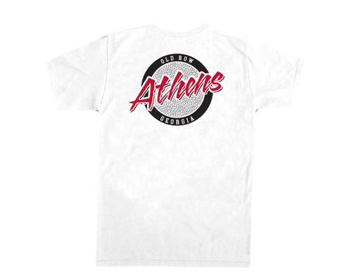 Old Row Athens Georgia Circle Logo Comfort Color Short Sleeve Pocket T-shirt