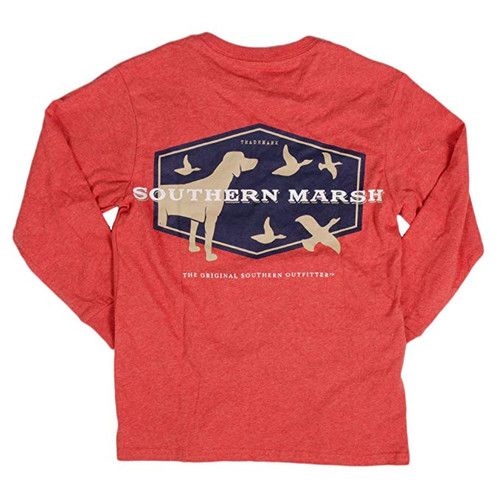 Southern Marsh Youth Branding Collection Hunting Dog Long Sleeve Tee