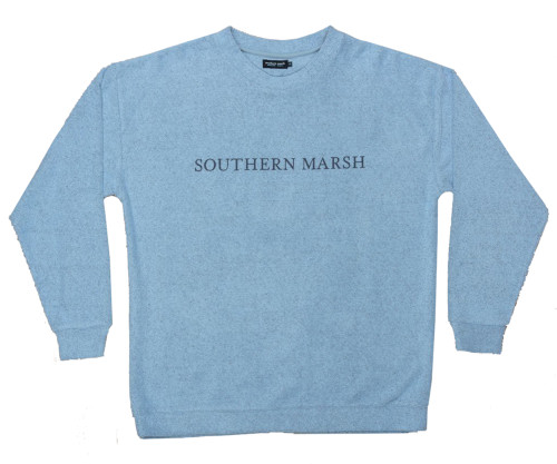 Southern Marsh Sunday Morning Sweater, French Blue- X-Large