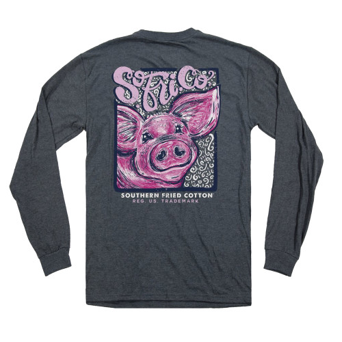 Southern Fried Cotton Curly Sue Short Sleeve Pocket T-shirt