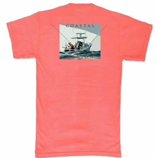Coastal Cotton Red Center Console Short Sleeve Tee