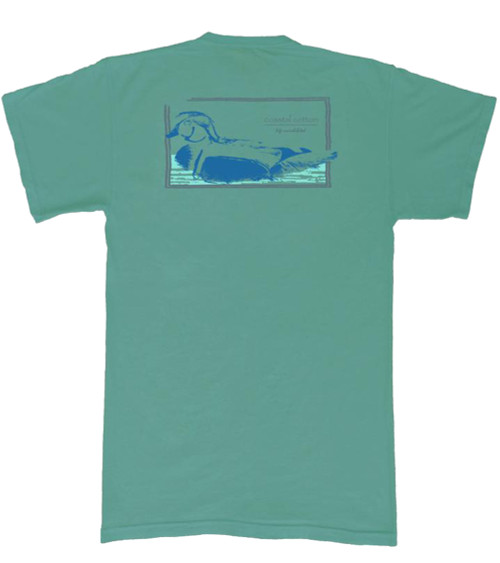 Coastal Cotton Spruce Wood Duck Short Sleeve Tee