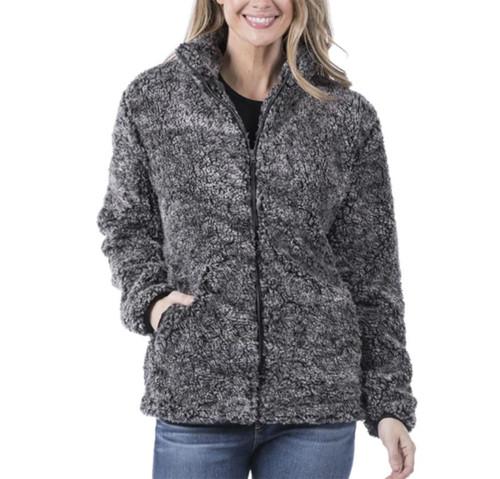 Katydid Full Zip Fur Sherpa Jacket