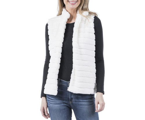 Katydid Faux Rabbit Fur Vest With Pockets