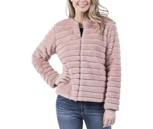 Katydid Faux Rabbit Fur Jacket With Pockets