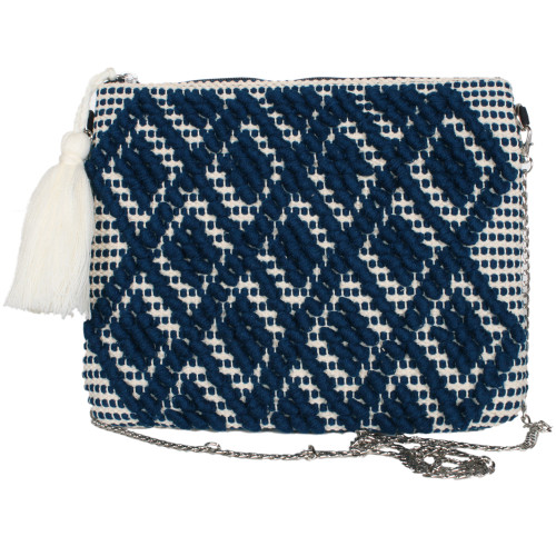 Katydid Clutch Collection Royal and Cream Clutch with Chain