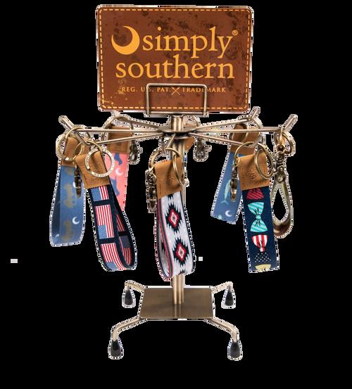 Simply Southern Brass Keyfob Keychain