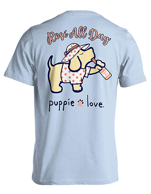 Puppie Love Rescue Rose' Pup Adult Unisex Short Sleeve T-Shirt