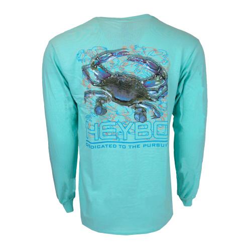 Heybo Blue Crab Long Sleeve T-shirt