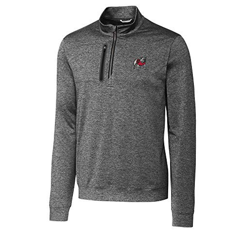 Cutter & Buck Georgia Bulldogs Long Sleeve Stealth Half Zip