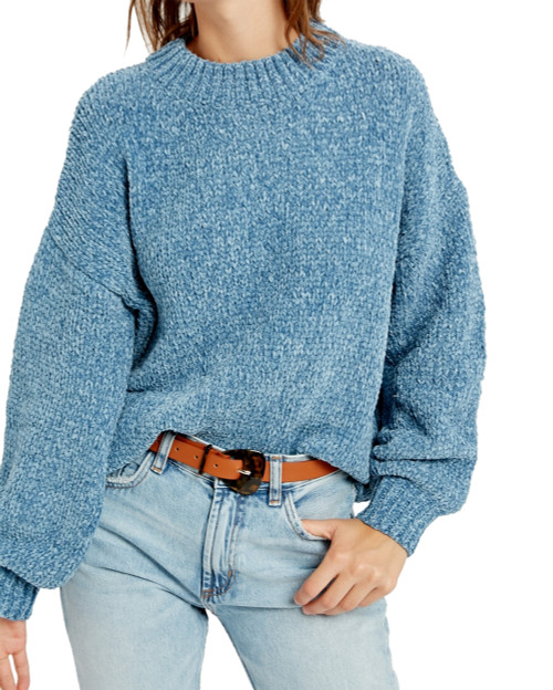 Wishlist Cropped Chenille Sweater