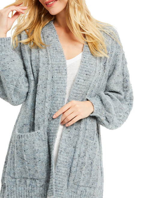 Wishlist Chunky Cable Knit Cardigan