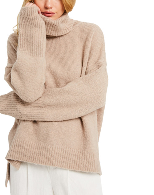 Wishlist Oversize Turtle Neck Pullover Sweater