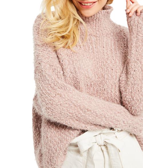 Wishlist Fuzzy Turtle Neck Sweater