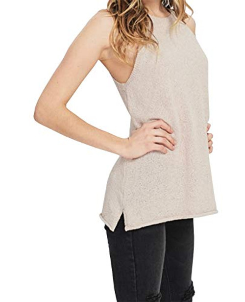 Wishlist Women's Sleeveless Textured Sweater Tank Top Twig