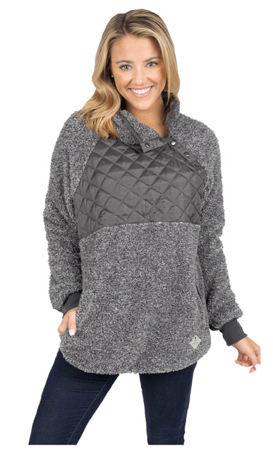 Simply Southern Women's Quilted Sherpa Pullover