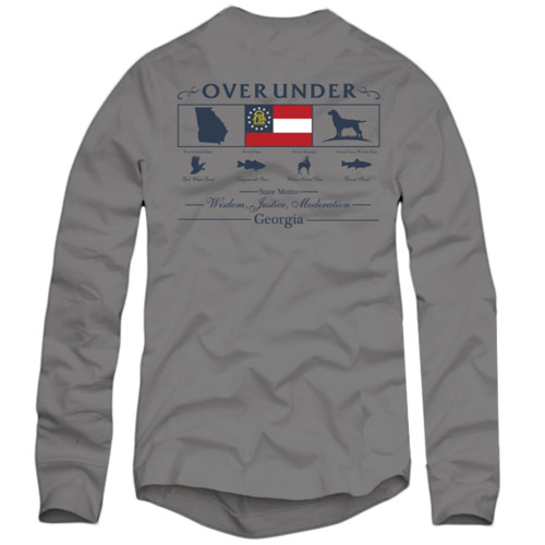 Over Under Long Sleeve State Heritage Sportsman Georgia T-Shirt