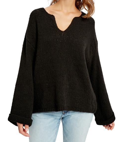 Wishlist Notch Neck Knit Sweater