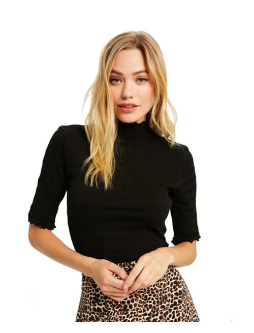 Wishlist Women's Ruffle Hem Knit Top