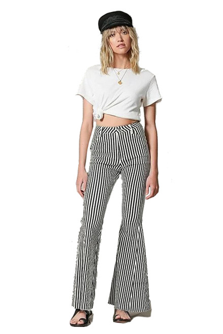 Highwaisted Vertical Striped Super Flare Bell Bottoms