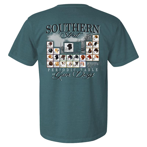 Southern Strut Periodic Table Of Dogs Unisex Comfort Colors Short Sleeve T-Shirt