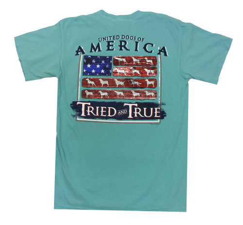 Tried and True Comfort Color American Dogs Short Sleeve T-shirt